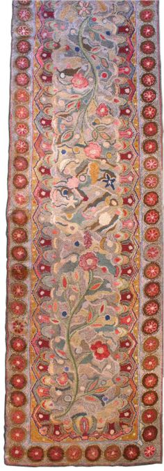 An American Hooked rug    Circa: 1940