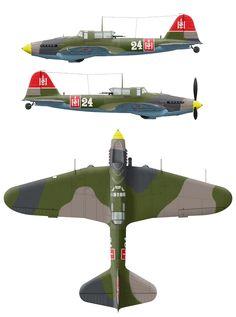 http://mig3.sovietwarplanes.com/il-2/il2-camo/postwar/il2m3-bp-fl-am-3view-mongolian.jpg