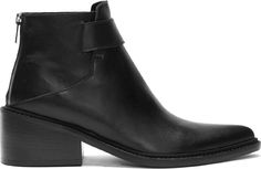 Helmut Lang - Black Leather Schist Ankle Boots