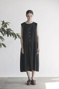 Patterned Marine Dress Marine Sleeveless Dress Dress with Pockets and 3/4 sleeves ...
