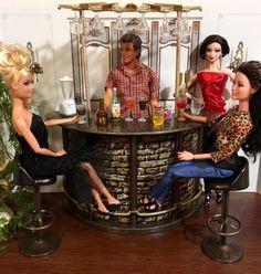 OOAK-Furniture-Set-Barbie-Ken-Fashion-Doll-1-6-Scale-Adult-Diorama-Bar-Lot