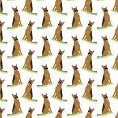 Sitting German Shepherd Dogs fabric by rusticcorgi for sale on Spoonflower - custom fabric