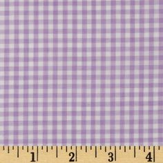 Woven 1/8'' Gingham Lilac from @fabricdotcom  This classic light weight woven yarn dyed gingham fabric is extremely versatile. It can be used to create stylish summer dresses, children's apparel and blouses. It can also be used to make tablecloths, curtains and even handkerchiefs. Checks measure 1/8''. Remember to allow extra yardage for pattern matching.