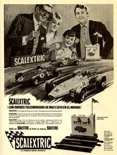 Aquellos maravillosos años-Those wonderful years eye makeup that goes with navy blue dress - Eye Makeup Slot Car Racing, Slot Car Tracks, Slot Cars, Race Cars, Vintage Advertisements, Vintage Ads, Basement Window Well Covers, Advertising Pictures, Nostalgia