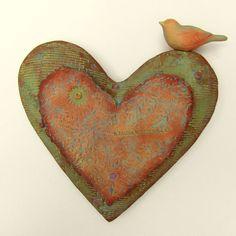 wall heart by jmrpottery ETSY.