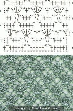 Lace crochet ground stitch with diagram