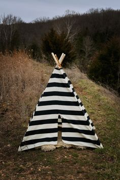 Teepee children's play tent- Children Toddler - Poles Included Black and Natural Stripe via Etsy. Teepee Play Tent, Kid Spaces, Kids Decor, Gifts For Boys, Play Houses, Baby Love, Kids Bedroom, Cool Kids, Little Ones