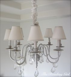 Br Chandelier Makeover Chain Painted Gold