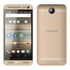 VKWORLD VK800X 3G Android 5.1 MTK6580 Quad Core 1GB 8GB Smartphone 5.0 Inch qHD Screen Gold