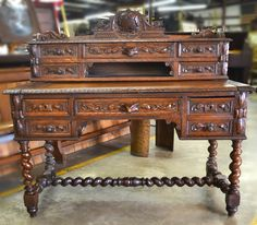 Beautiful French antique desk  wouldn't you love to find this