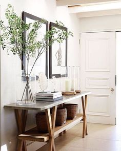 Amber Interiors Design Studio is a full-service interior design firm based in Los Angeles, California, founded by Amber Lewis. We serve clients worldwide with services ranging from interior design, interior architecture to furniture design. Entry Tables, Entry Table Diy, Amber Interiors, White Interiors, Vintage Interiors, Foyer Decorating, Decorating Ideas, Decor Ideas, Decorating Websites