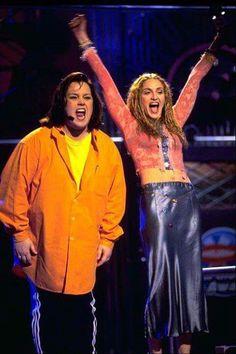 Madonna and Rosey Odonall,(sp),1998 Nickelodeon Kids Choice Awards