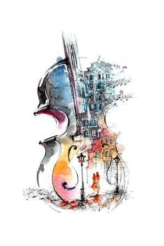 Music and the City Art Print by okalinichenko at Art.com