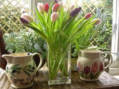 Tulips Jug designed exclusively for Waitrose
