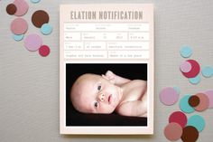 ELATION NOTIFICATION #baby #birth #announcement