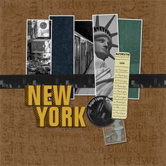 new york city scrapbook layouts - Yahoo Image Search Results Travel Scrapbook Pages, Vacation Scrapbook, Scrapbook Page Layouts, New York Scrapbooking, Scrapbooking Ideas, New York Projects, New York Travel, Travel City, Card Making Inspiration