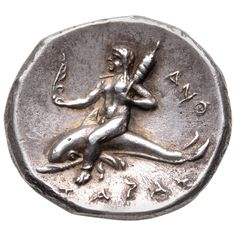 Beautiful Ancient Greek Silver Didrachm Coin from Taras Gold And Silver Coins, Gold Models, Sea And Ocean, Rare Coins, Coin Collecting, Ancient Greece, Artemis, Archaeology, Antique Jewelry
