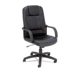 Alera Sparis Series Executive High-Back Swivel/tilt Chair, Leather, Black