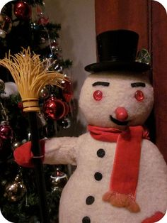 Vintage Snowman Toy, made in Japan.