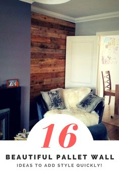 Add Style Quickly: 16 Beautiful Pallet Wall Ideas!