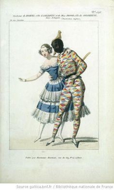 [Arlequin : lot d'estampes] Éditeur : Hautecoeur Martinet (Paris) Date d'édition : 1842