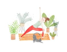 Yoga At Home print   Julianna Swaney