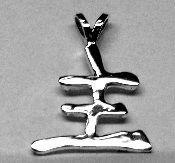 Master Kanji Pendant Sterling Silver Free Domestic by oldtrekkie, $59.99