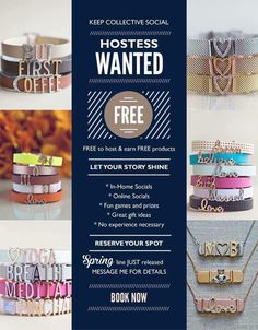 Hostesses Wanted! Host a KEEP Collective Online Social and earn FREE JEWELRY…