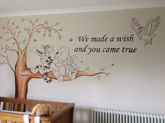 """Winnie the Pooh Nursery Murals"" Baby room. ""Winnie the Pooh Nursery Murals"" Baby room. Winnie The Pooh Nursery, Woodland Nursery Boy, Baby Boy Nursery Themes, Bear Nursery, Baby Boy Rooms, Baby Boy Nurseries, Nursery Room, Baby Decor, Disney Baby Nurseries"