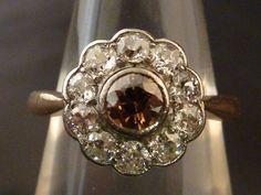 traumhafter Altschliff-Diamant Ring - ca. 0,80ct - 585er Gold / 14K