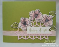 Climbing Orchid stamp set, thinking of you, Stampin' Up!, diannescards.com