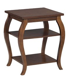 "Love this Hazelnut Panorama Side Table on #zulily! 20""w x 23"" H x 17.5"" D    $84.99 as of 04-14-15"