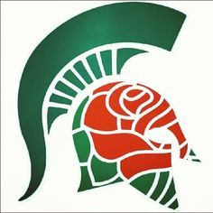 I want this on a tee shirt (ladies size M) Michigan State at the Rose Bowl Michigan State Spartans, Msu Spartans, Michigan State University, Msu Football, College Football, Football Season, Detroit Sports, Rose Bowl, Tatoo