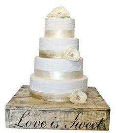 Rustic Wedding Cake Stand Wood Love Is Sweet Custom Barn
