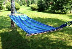 Houpací síť do zahrady zeleno modré barvy Outdoor Furniture, Outdoor Decor, Hammock, Home Decor, Homemade Home Decor, Hammocks, Decoration Home, Yard Furniture, Interior Decorating