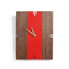 Son of a Sailor: Oscar Wall Clock, Walnut and Brass Clock
