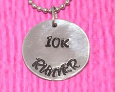 Runner Gifts | 10K | Cross Country | Runner Necklace | Marathon Jewelry | Running Shoe Charm Necklace | Gifts for Runners | by charmedbykobe on Etsy