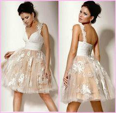 vestido de noiva curto princesa
