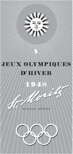 1948 Winter Olympics logo.......... (San Moritz, Switzerland)