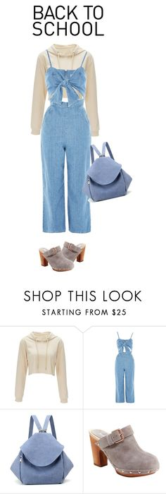 """""""back"""" by faye-valentine ❤ liked on Polyvore featuring Topshop and Jambu"""