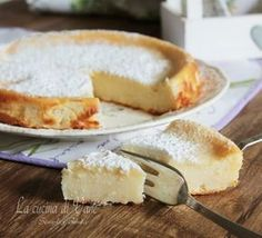 Torta cremosa di ricotta Sweets Recipes, Cake Recipes, Cooking Recipes, Italian Desserts, Italian Recipes, Sweet Cakes, Kefir, Delicious Desserts, Bakery