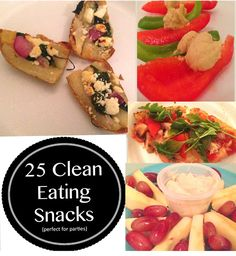 25 clean eating snacks that are perfect for parties!  Let Duane Reade help you get healthy!