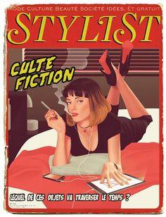 Stylist: Das französische Lifestyle-Heft nimmt sich der Frage an, was passieren würde, wenn Objekte (wie hier das iPhone und das iPad) durch die Zeit reisen.