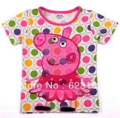 Aliexpress.com : Buy Pink Dot kids t shirt Popular peppa pig T shirt 2 colors in stock wholesale 5pcs/lot K4042# kids NOVA peppa pig kids wear from Reliable kids peppa pig t-shirts suppliers