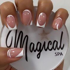 Sassy Nails, Fun Nails, Pretty Nails, Short Nail Manicure, Shellac Nails, Nail Tip Designs, Acrylic Nail Designs, Lilac Nails With Glitter, French Tip Nails