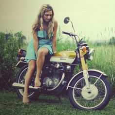 honda girl motorcycle – Jack Brown – Join the world of pin Audi, Porsche, Honda Motorcycles, Vintage Motorcycles, Honda Bikes, Honda Cb, Vintage Bikes, Lady Biker, Biker Girl