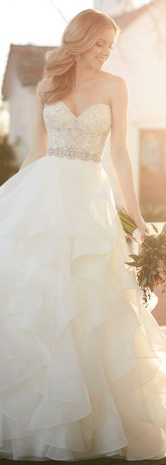 Gorgeous Satin Sweetheart Neckline A-line Wedding Dresses With Beaded Embroidery