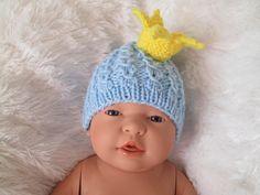 Newborn crochet crown crochet hat baby hats knit by Ritaknitsall