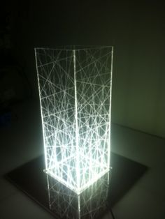 Ethereal Lamp. Plexiglass table lamp. LED light