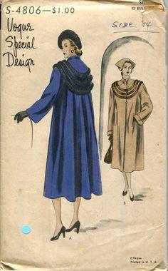 50s Vogue Special Design Pattern 4806  Evening by retromonkeys, $50.00
